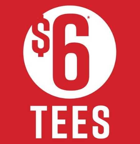 $6 Tees from Hot Topic