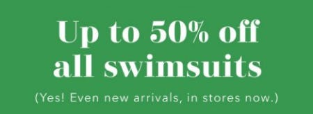 Up to 50% Off All Swimsuits