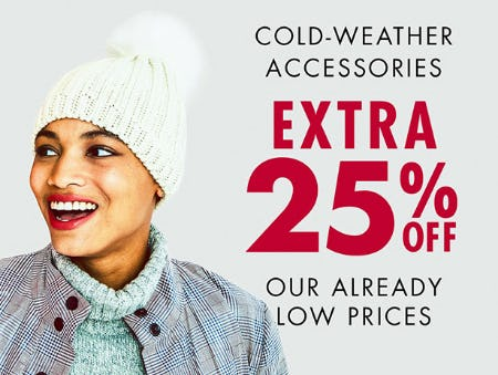 Cold-Weather Accessories, Extra 25% Off from DSW Shoes