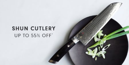 Shun Cutlery up to 55% Off