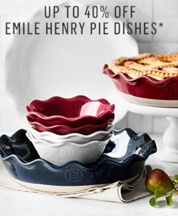 Up to 40% Off Emile Henry Pie Dishes from Williams-Sonoma