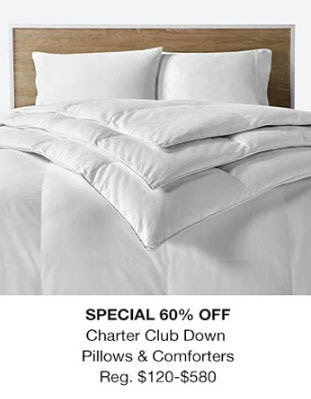 60% Off Charter Club Down Pillows & Comforters