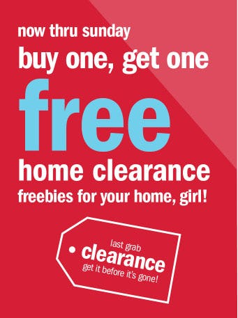 BOGO Free Home Clearance from Gordmans