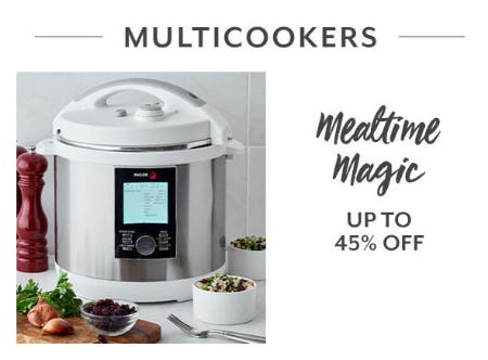 Up to 45% Off Multicookers