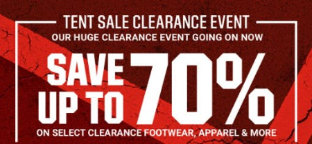 Up to 70% Off Tent Sale Clearance Event