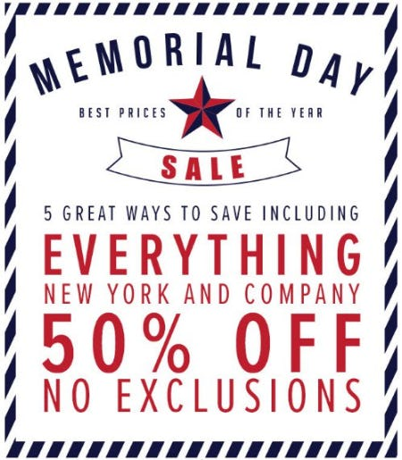 Memorial Day Sale from New York & Company