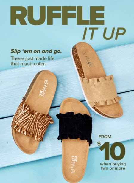 $10 Sandals When Buying Two or More from Rainbow