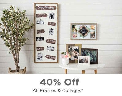 40% Off All Frames & Collages from Kirkland's
