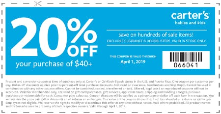 20% Off Your In-Store Purchase of $40+