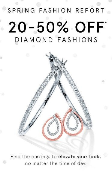 20-50% Off Diamond Fashions from Kay Jewelers