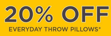 20% Off Everyday Throw Pillows from Kirkland's