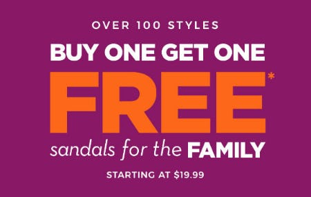 BOGO Free Sandals from Rack Room Shoes
