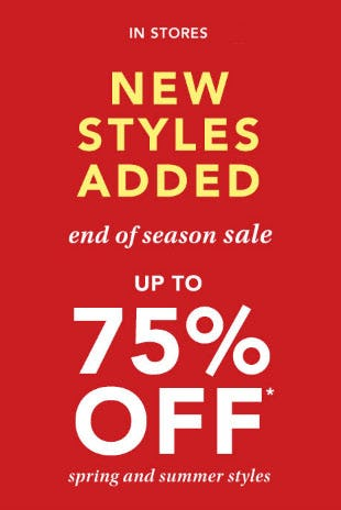 Up to 75% Off End of Season Sale from maurices