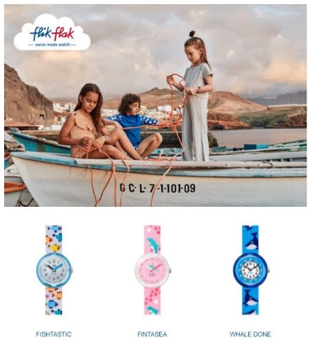 Flik Flak's New Sea Treasures Collection from Swatch