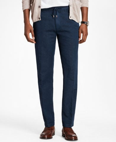 Linen and Cotton Drawstring Pants from Brooks Brothers