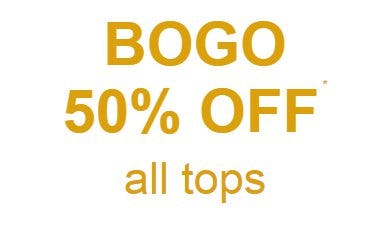 BOGO 50% Off All Tops from maurices