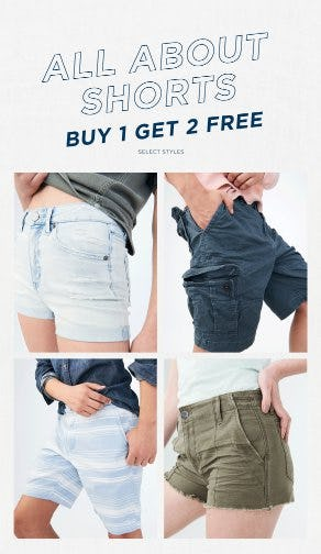 Shorts Buy 1, Get 2 Free from Aéropostale