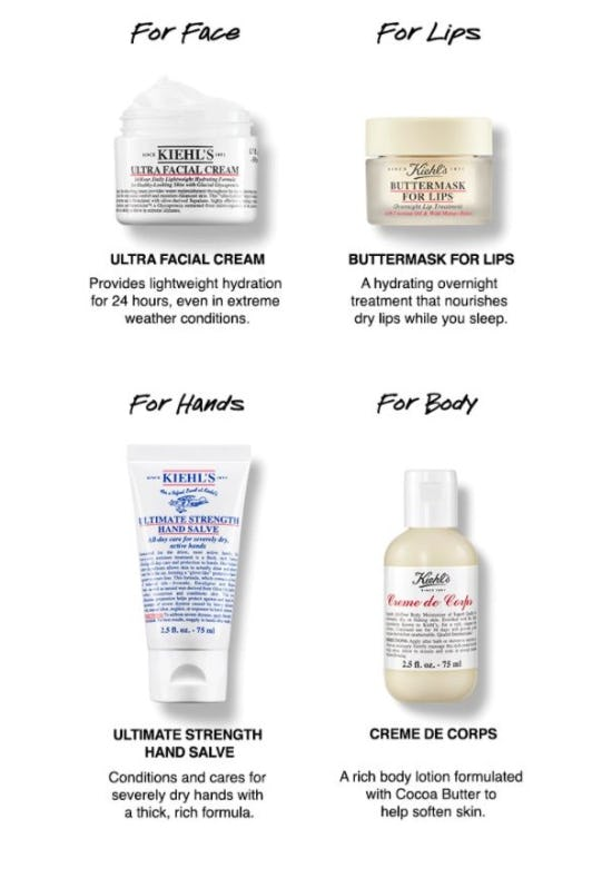 Hydrating Essentials for your Winter Routine from Kiehl's