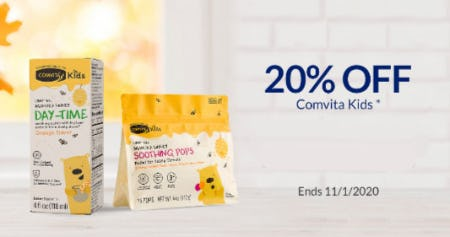20% Off Comvita Kids from The Vitamin Shoppe