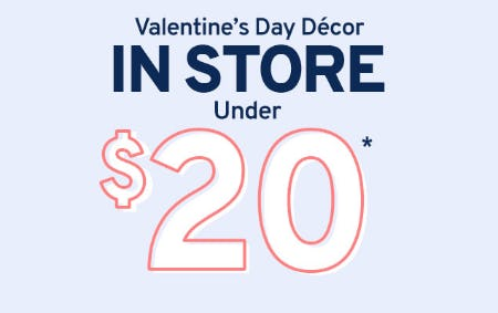 Valentine's Day Decor Under $20 from Marshalls