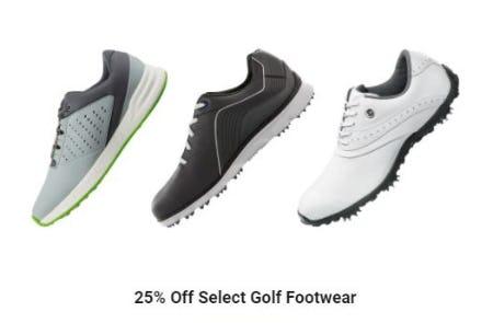 25% Off Select Golf Footwear from Golf Galaxy