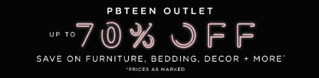 Up to 70% Off on Furniture, Bedding, Decor + More from Pb Teen