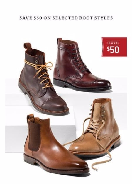 $50 Off Selected Boots Styles