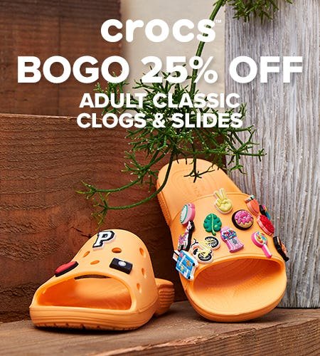 Buy One, Get One 25% Off from Crocs