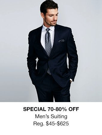 70-80% Off Men's Suiting