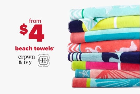 Beach Towels From $4 from Belk