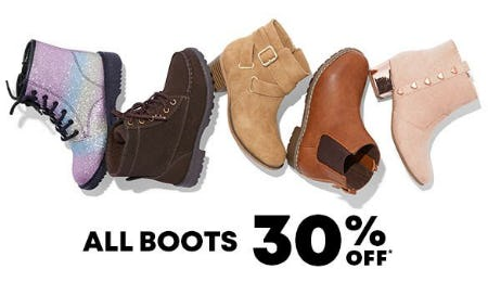 30% Off All Boots from The Children's Place
