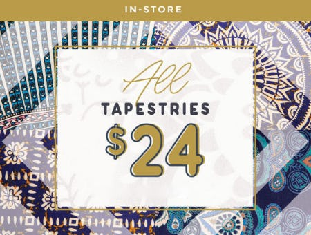 All Tapestries $24 from Earthbound Trading Company