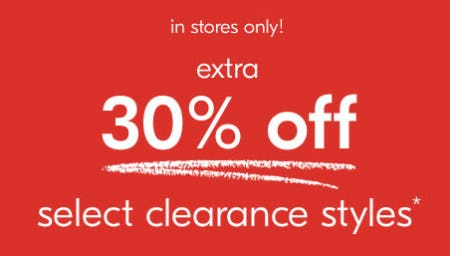 Extra 30% Off on Select Clearance Styles from West Elm