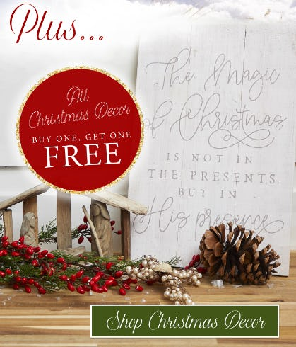BOGO Free All Christmas Decor from Altar'd State