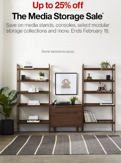 Up to 25% Off The Media Storage Sale from Crate & Barrel