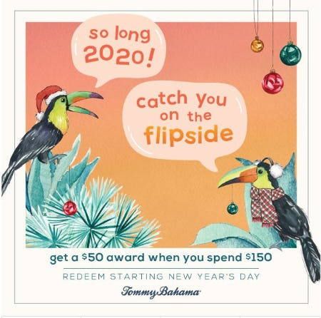 Get a $50 Award! from Tommy Bahama