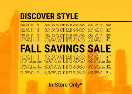 Fall Savings Sale from Footaction