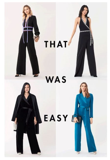 High Impact Jumpsuits from Diane von Furstenberg