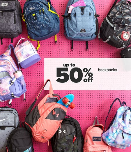 Up to 50% Off Backpacks from Belk