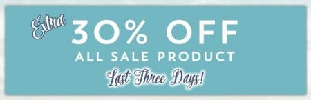 Extra 30% Off All Sale Product