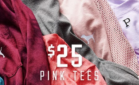 $25 Pink Tees from Victoria's Secret