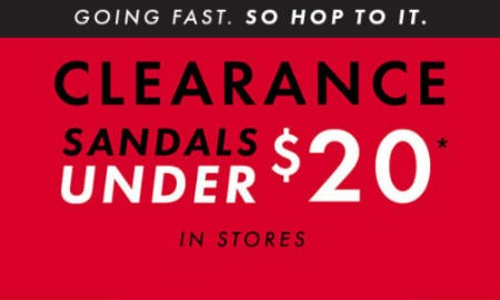 Clearance Sandals Under $20 from DSW Shoes