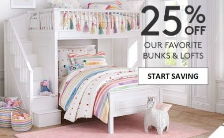 25% Off Our Favorite Bunks & Lofts from Pottery Barn Kids
