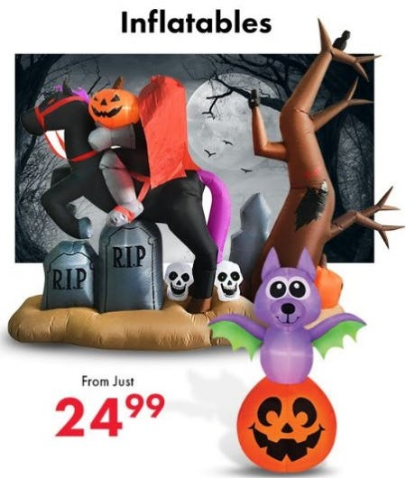 Inflatables from just $24.99 from Party City