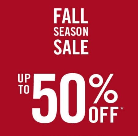 Fall Season Sale up to 50% Off from Abercrombie & Fitch