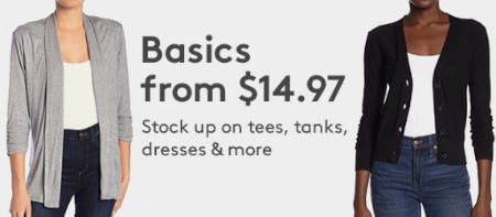 Basics From $14.97 from Nordstrom Rack
