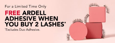 Free Ardell Adhesive When You Buy 2 Lashes
