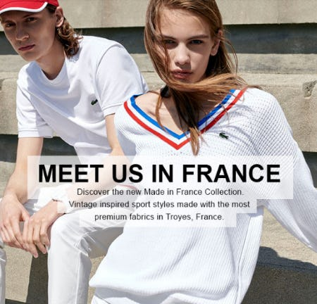 The New Made in France Collection from Lacoste