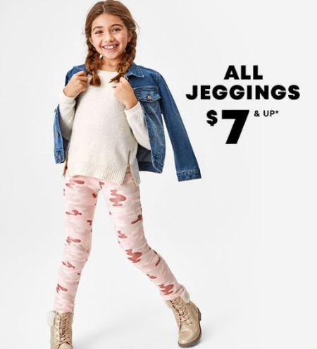 All Jeggings $7 & Up from The Children's Place
