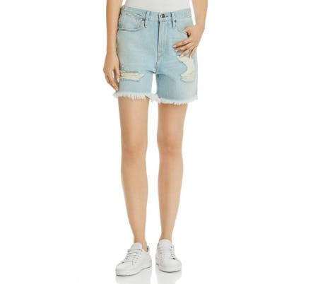 Frame Le Stevie Distressed Denim Shorts in Henley from Bloomingdale's